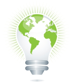 LED light bulb green living